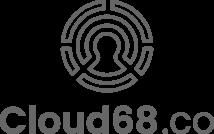 Cloud68.co svg logo gray